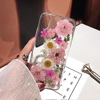 Vraie fleur adaptée pour 12 pomme x étui de téléphone portable xs fleur séchée xr couvercle anti-chute