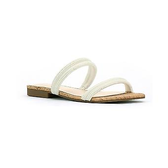 Jessica Simpson Womens Raexe Slip-On Strappy Slide Sandals