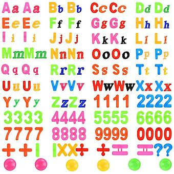 162 stück Magnetische Buchstaben und Zahlen Set Alphabet mit Tafel Magnete Nummer Spielzeug