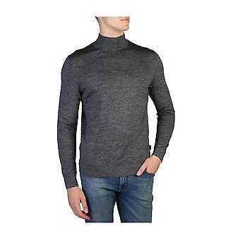 Calvin Klein -BRANDS - Vaatteet - Villapaita - K10K100079-054 - Miehet - musta, tummangray - XL