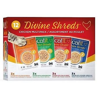 Catit Divine Shreds Chicken Multipack (Cats , Cat Food , Wet Food)