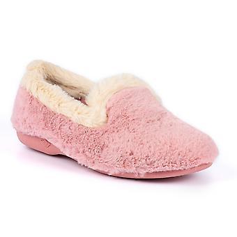 Lunar Shake Pink Fur Trim Slipper