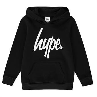 Hype Kids Script Pullover Hoodie Logo Canguro Bolsillos OTH Hoody Top