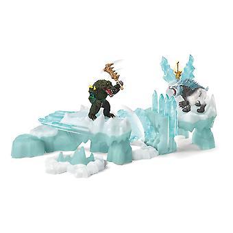 Eldrador Kreaturen greifen auf Eis Festung Spielzeug Spielset an