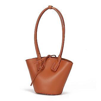 Damska modna torebka na ramię (brązowa)