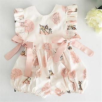 Baby Deer Flower Cotton Soft Romper Jumpsuit
