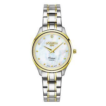 Roamer 601857 47 89 20 Women's Venus Diamond Two Tone Steel Bracelet Wristwatch