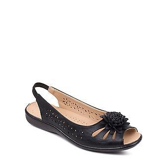 Chums Slip On Open Toe Sandal With Elastic Heel