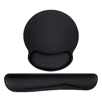Black Anti Slip Mouse Mat Pad With Foam Wrist Comfort Support Gaming Mouse Pads