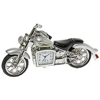 Sølv Klassisk Motorsykkel Klokke