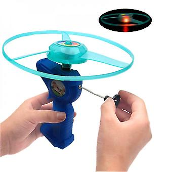 Children's Outdoor Toy Toy Gift, Pull-string Flying Saucer Flying Toy