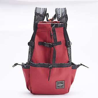 Регулируемый отражающий мешок перевозчика для собак - открытый рюкзак путешествия для походов
