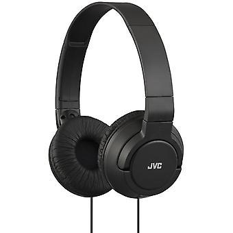 JVC Lightweight Powerful Bass Headphones - Black (HAS180B)