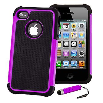 Shock Proof Case Cover For Apple iPod Touch 5 - Purple
