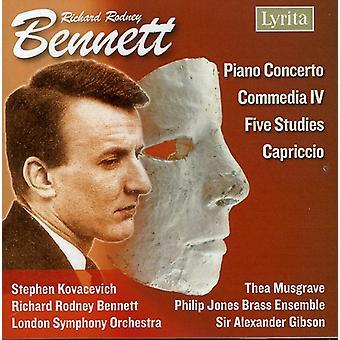 R.R. Bennett - Richard Rodney Bennett: Piano Concerto; Commedia IV; Five Studies; Capriccio [CD] USA import