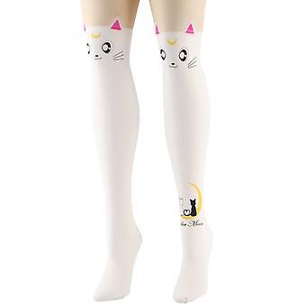Holdning tøj hvid Sailor Moon strømpebukser