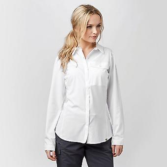 New Brasher Women's Travel Backpacking Long Sleeve Shirt White