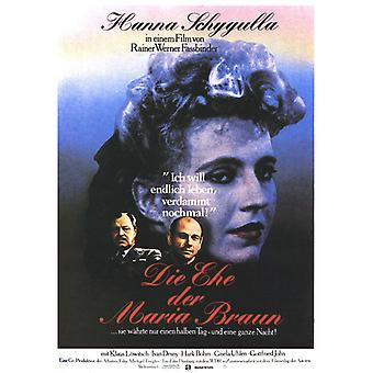 The Marriage of Maria Braun Movie Poster (11 x 17)