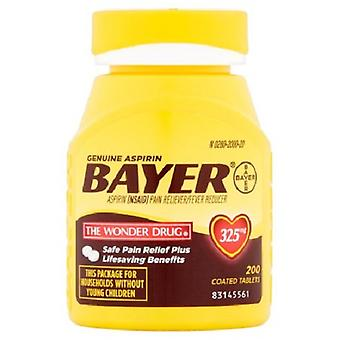Frasco de contagem Bayer aspirina 325 mg comprimidos revestidos 200