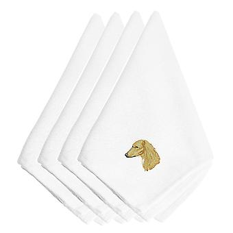 Carolines Treasures  EMBT2498NPKE Saluki Embroidered Napkins Set of 4