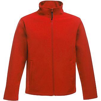 Regatta व्यावसायिक Mens प्रिंट सही गर्म पूर्ण ज़िप Softshell जैकेट