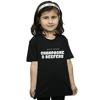 Muddy Waters dievčatá šampanské a Reefer Kaboom T-shirt