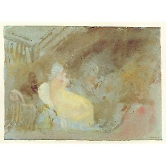 Interior at Petworth with seated figure,.. - Art Print