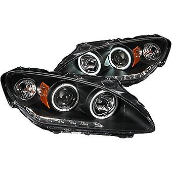AnzoUSA 121449 Black/Clear/Amber Halogen Projector Headlight for Honda S2000