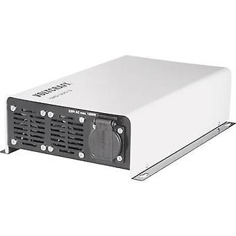 VOLTCRAFT Inverter SWD-1200/12 1200 W 12 V DC - 230 V AC Remote operation