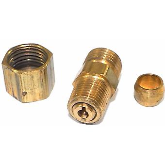 """Big A Service Line 3-163420 Brass Pipe, Reduction Male Connector 1/4"""" x 1/8"""""""