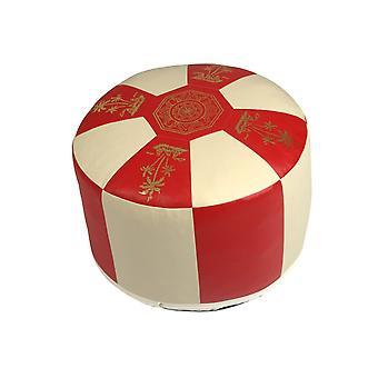 Sittplats kudde syntetiskt läder röd/champagne 8732104 Ø 50/34 cm