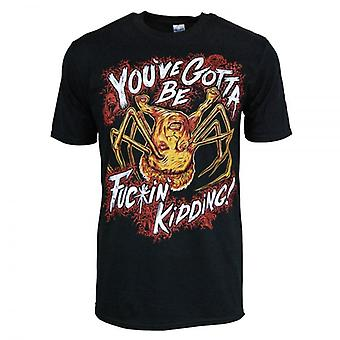 Honcho SFX Mens Norris Spider Head You've Gotta Be Kiddin' Me T Shirt Black