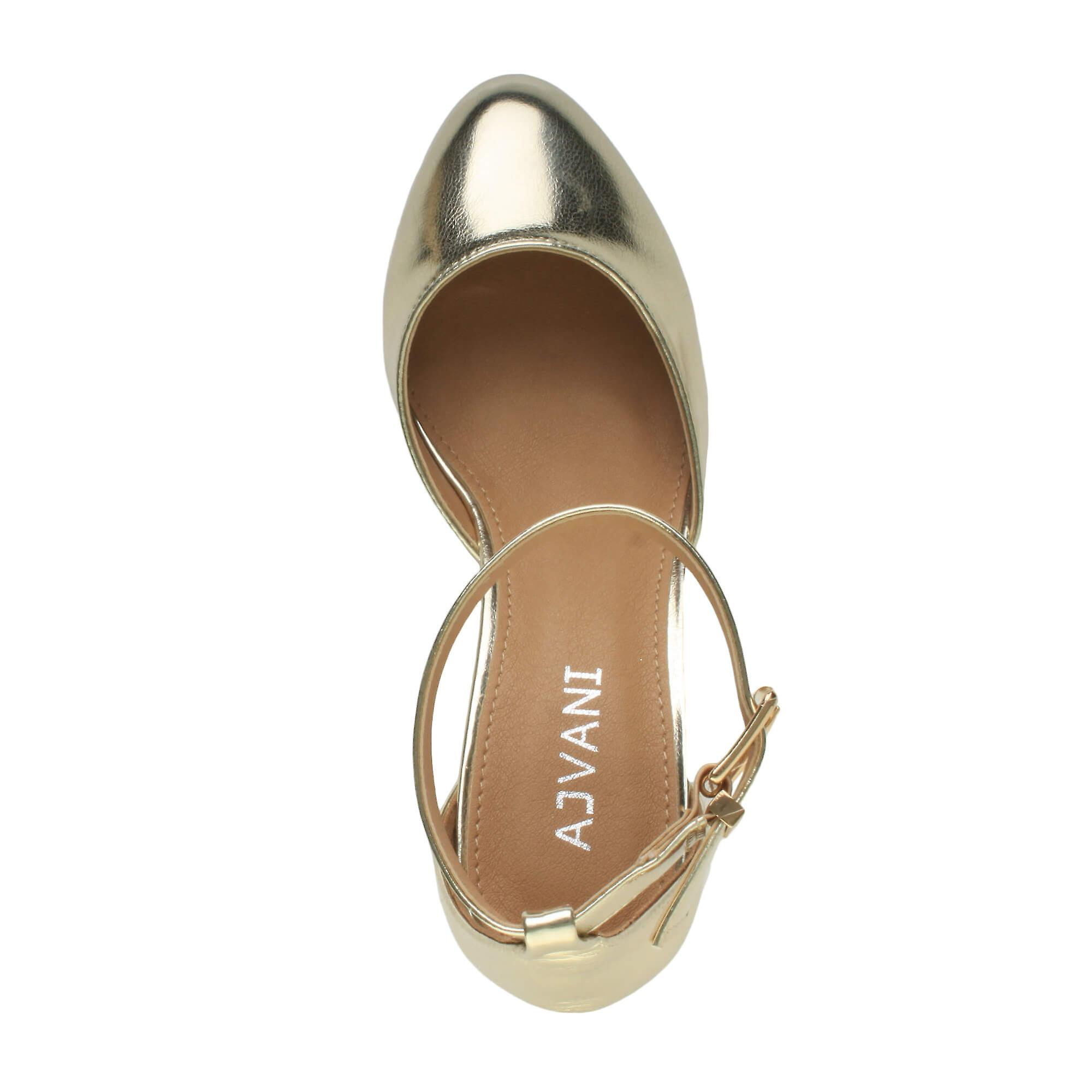 Ajvani damskie niskie średnie bloku pięty kostki pasek mary jane sąd buty sandały eHRxW