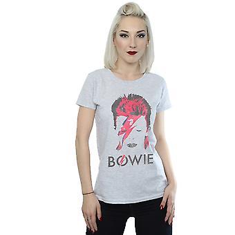 David Bowie Women's Aladdin Sane Distressed T-Shirt