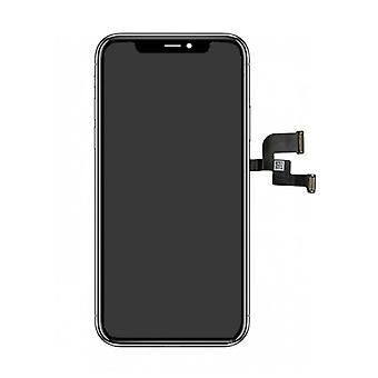 Ting sertifisert® iPhone X-skjerm (berøringsskjerm + OLED + deler) AA + kvalitet - svart