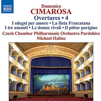Cimarosa / Czech Chamber Philharmonic Orchestra - Overtures 4 [CD] USA import