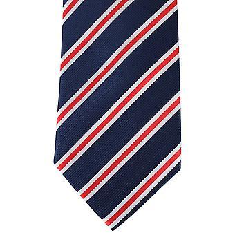 David Van Hagen rykmentin raidallinen solmio - Navy/punainen/valkoinen