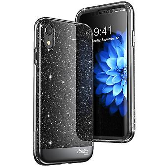 iPhone XR Case, [Unicorn Beetle Stella] with Built-in Screen Protector Premium Hybrid Glitter Case 2018 Release (Black)