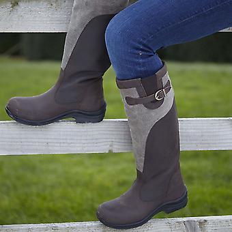 Toggi Womens Winnipeg Riding Boots Shoes Canvas Shock Absorbing Equestrian