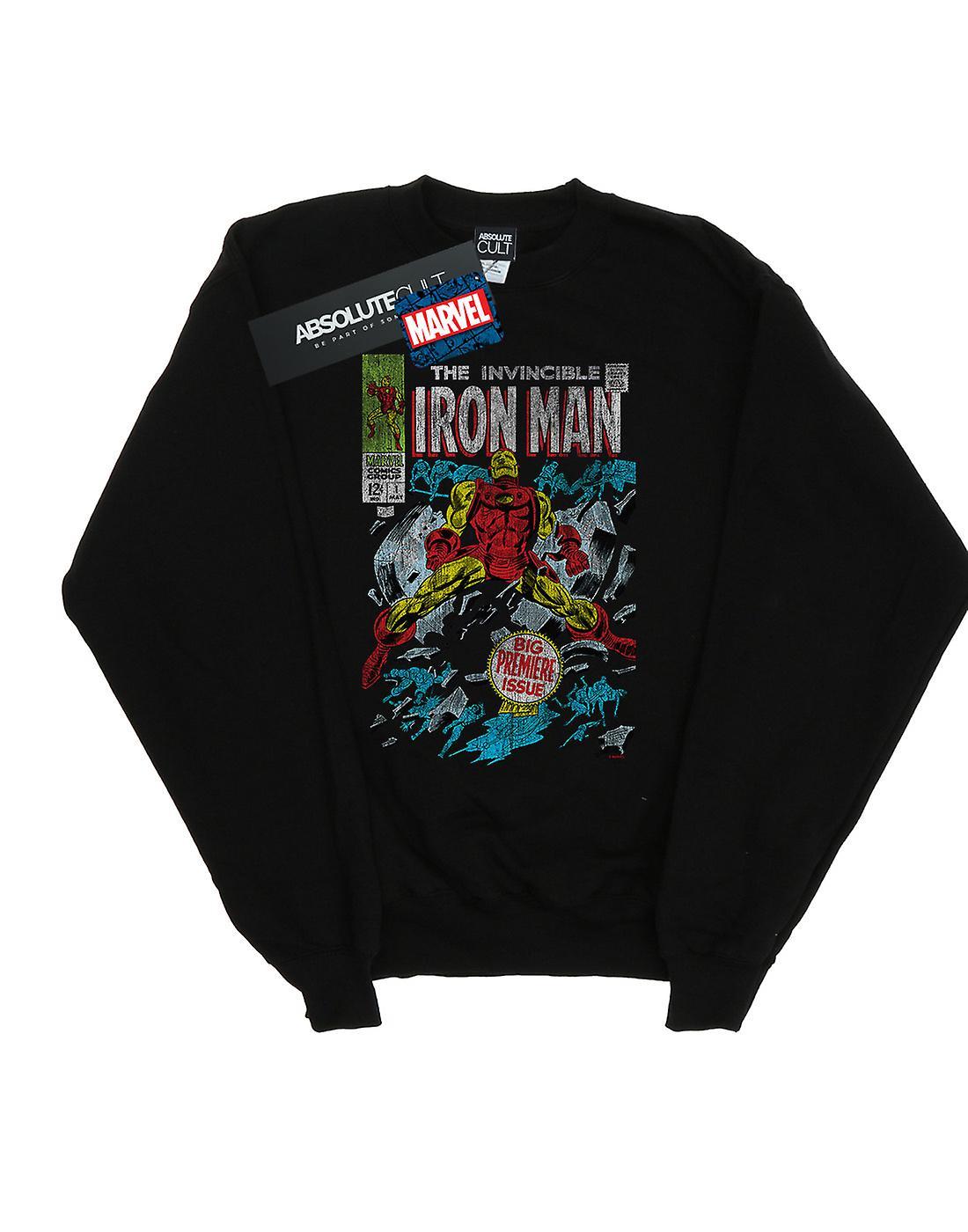 Marvel Boys Invincible Iron Man Distressed Issue One Sweatshirt