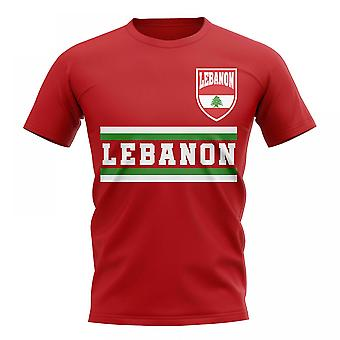 Liban Core Football pays T-Shirt (rouge)