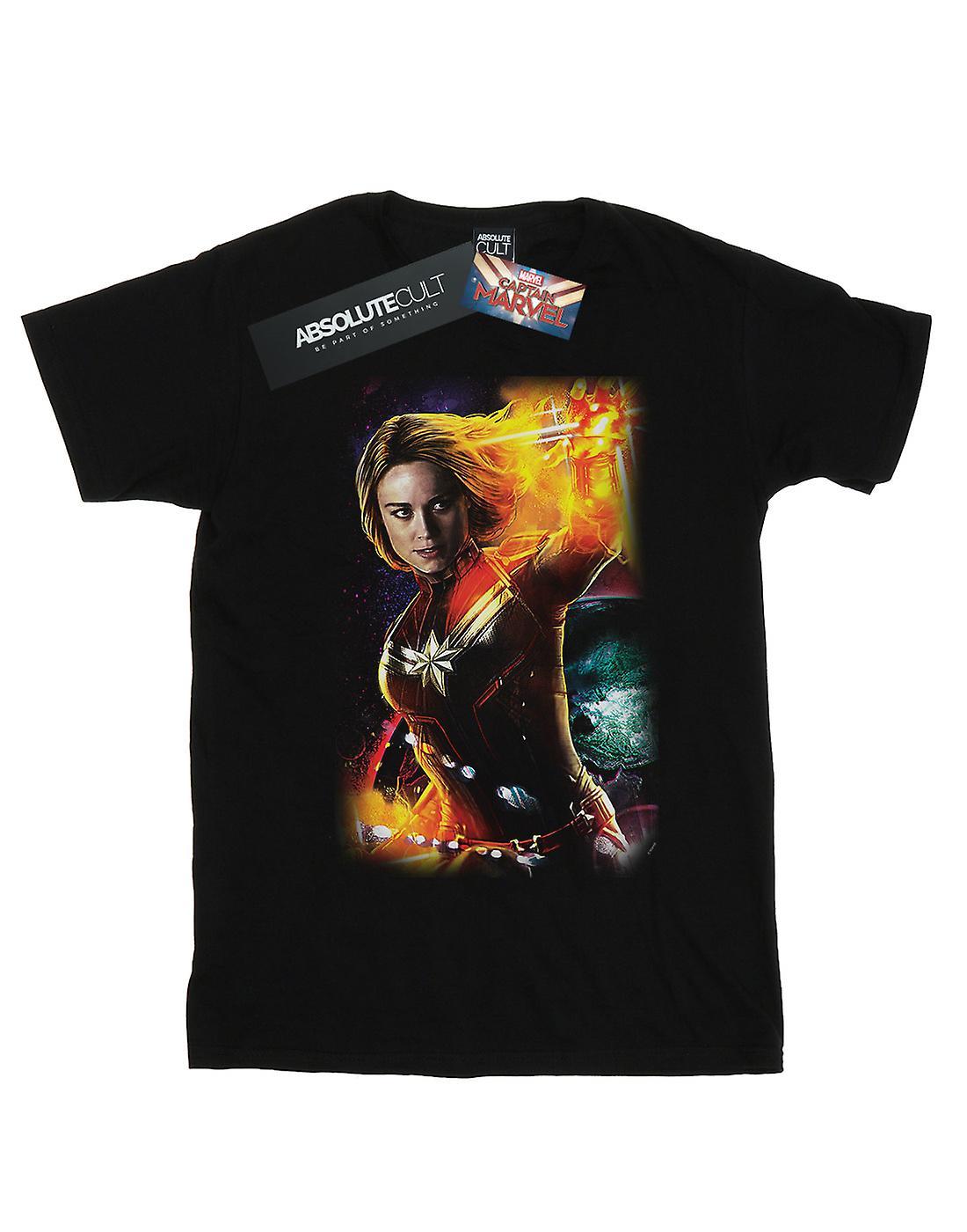 Marvel Women's Captain Marvel Galactic Shine Boyfriend Fit T-Shirt