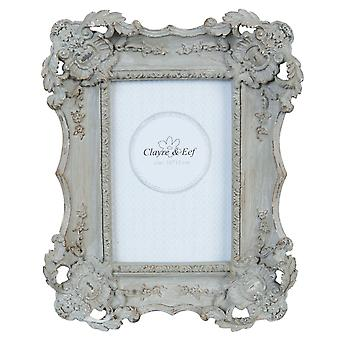 Clayre & EEF photo frame picture frames decorated vintage shabby grey 20 x 25 cm