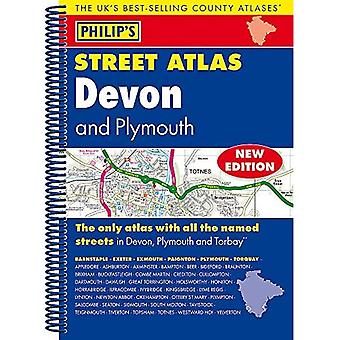 Street Atlas Devon de Philip : spirale Edition