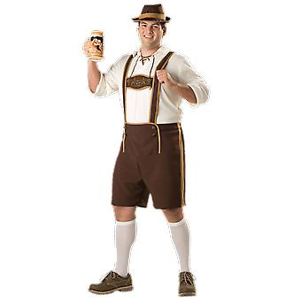 Mens Bavarian Plus Size Oktoberfest Stag Night Germany Fancy Dress Costume