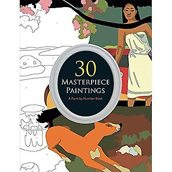 30 Masterpiece Paintings: A� Paint-By-Number Book