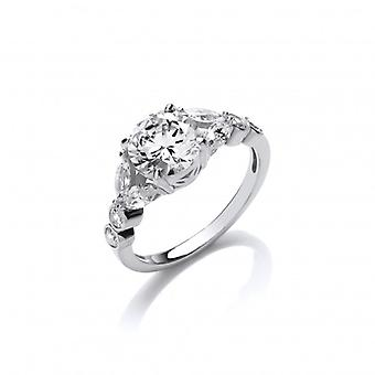Cavendish French Silver and CZ Laurel Ring