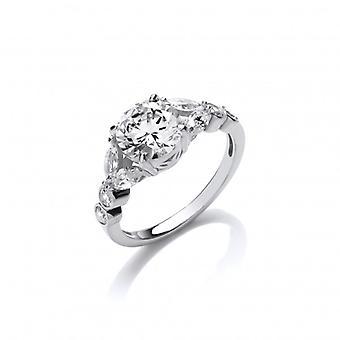 Cavendish französische Silber und CZ Laurel Ring