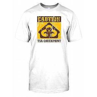 Forsiktig TSA Checkpoint - konspirasjon Mens T-skjorte