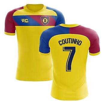 2018-2019 Barcelona Fans Culture Away Concept Shirt (Coutinho 7) - Kids